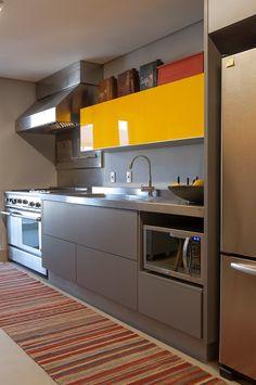 #decor – cozinha cinza e amarela